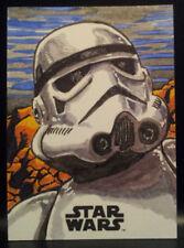 Stormtrooper Solo Star Wars Topps Sketch Card Artist Proof by Kurt Ruskin