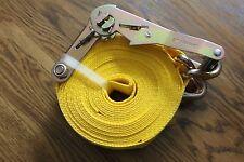"2 Erickson # 78627 2"" x 27' 10000 lbs Tie-Down Strap w/ J-Hooks 2 ITEM SET"
