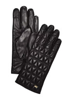 NWT MICHAEL KORS QUILTED LEATHER GLOVES BLACK S $98 5378220