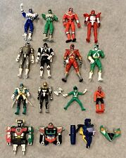 "Bandai 2000 Power Rangers Time Force Red Blue Green Ranger 5.5"" Action Figure"
