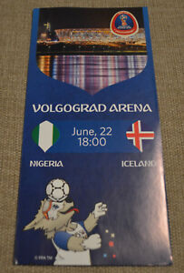 FIFA World Cup Soccer 2018 Russia OFFICIAL Licensed Programme NIGERIA ICELAND