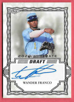 2020 Wander Franco Leaf Ultimate Draft Rookie Auto - Tampa Bay Rays