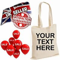Custom Text Hen Stag Party Gift Personalise Tote Shopping Bag Fathers Day Cotton