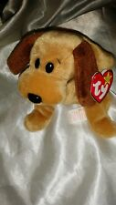 1993 TY BEANIE BABY BONES THE DOG WITH TAGS P.E. PELLETS RETIRED