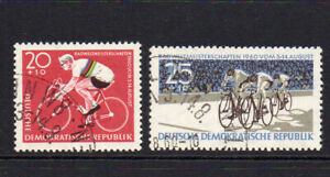 East Germany Cycling Set of Stamps c1960 Fine Used (87a)