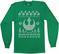 Light Side of the Force Star Wars Ugly Sweater Men's Long Sleeve T-shirt