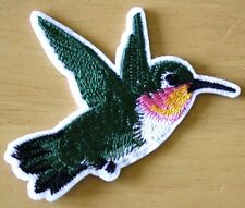 Hummingbird Bird Patch Embroidered Iron Sew On Rockabilly  Badge Motif Biker