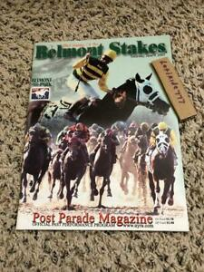 GEM MINT 2001 BELMONT STAKES PROGRAM POINT GIVEN HALL OF FAME HORSE OF THE YEAR