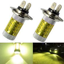 2x H7 LED Fog Light 60W Samsung 2323 Projector DRL Driving Bulbs 4300K Yellow