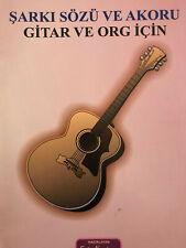 sarki szleri akorlar gitar ve org icin kitap