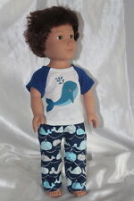 Whale Pajamas fits 18inch American Girl Boy Doll Clothes Lot Free Shipping