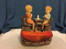 Vintage Music Box Children Saying Grace by Price Import Hong Kong