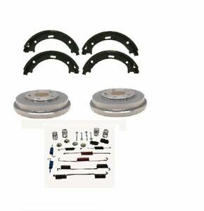 Rear Brake Drums Pair /& Shoe Left /& Right Set Kit for Toyota Camry Solara