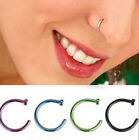 Eyebrow Nose Open Hoop Ring Earring Stainless Steel Body Piercing Studs Jewelry