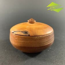 STUNNING VINTAGE HUON PINE TASMANIAN LIDDED CONTAINER SENSORY CANISTER TREEN