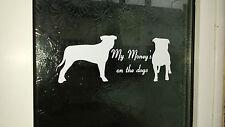 Dog Warning door sticker FUNNY, WARNING, BEWARE SIGN, STAFFORDSHIRE BULL