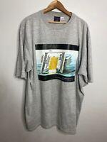 Vintage FUBU Money Crew Neck Tee Shirt Short Sleeve Grey  T-Shirt XL