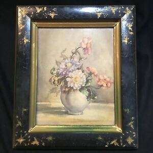 Shabby Still Life Flowers Countess Zichy Hungarian Artist Chic Victorian Frame