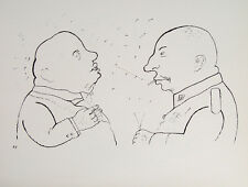 George Grosz Karikatur Militär General Orden Uniform Zigarre Weltkrieg Berlin