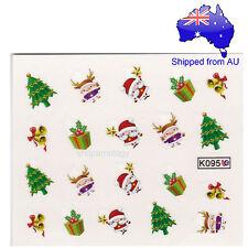 Christmas Tree Santa Gift Nail Art Water Transfer Decal