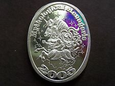 Endymion 2005 MYTHOLOGICAL MENAGERIE Fine Silver Oval HR Mardi Gras Doubloon