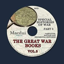 The Great War books Vol.5 Part 3 WW1 Campaigns,Battles,Regiments 170 PDF 1DVD