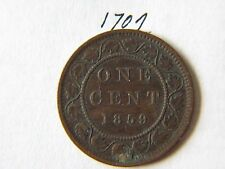 1859 Canada Large Cent Coin , Canadian One Cent
