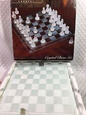 Vintage Crystal Chess Set Made By Imperial IOB