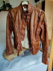 Ladies Belstaff Gold Label Leather Jacket IT 42