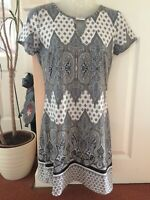 F&F Paisley Print Dress Size 8 Hardly Worn Excellent Condition