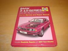 Haynes BMW 5 SERIES E34 518 520 525 530 535 i Owners Handbook Service Manual
