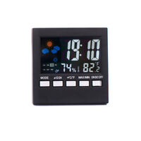 1Pc LCD Screen Temperature Clock Electronic LED Wall Digital Weather Alarm Clock