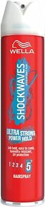 Womens WELLA Shockwaves Ultra Strong Power Hold Hairspray