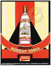 PUBLICITE ADVERTISING 095  2008  la VODKA STOLICHNAYA  ORIGINAL RUSSIAN