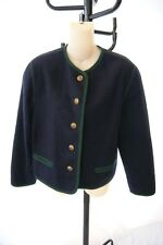 SCHNEIDERS SALZBURG TOWN & COUNTRY boiled  wool  BLUE JACKET SIZE 8 (j200)