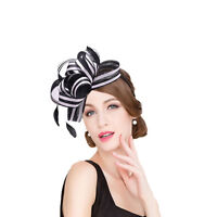 Womens Sinamay Fascinator Cocktail Headband Wedding Kentucky Derby Hat T222
