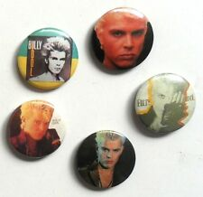 BILLY IDOL  x 5 punk button badges ORIGINAL '80's  PUNK ROCK