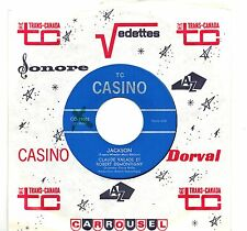 CANADA FRENCH QUEBEC POP 1960s 45 RPM CLAUDE VALADE & ROBERT DEMONTIGNY :