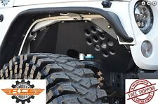 Ace Engineering Alum Front Inner Fenders Black w/o Lights 07-18 Jeep Wrangler JK
