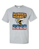 Funny Vote Murder Hornet 2020 USA American Flag Short Sleeve T-shirt
