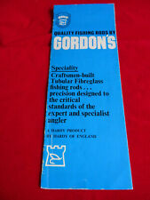 VINTAGE HARDY ADVERTISING CATALOGUE/PAMPHLET FOR HARDY GORDON'S FISHING RODS