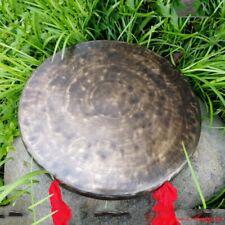 """14"""" Tibetan Ritual Taoism Ritual Celebration Gong Bell Bronze Low Sounds #1597"""