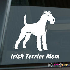 Irish Terrier Mom Sticker Die Cut Vinyl - red