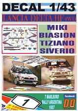 DECAL 1/43 LANCIA DELTA HF 4WD MIKI BIASION R.ARGENTINA 1987 WINNER (01)
