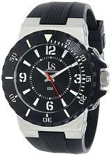 Joshua & Sons JS-38-BK Bold Black Dial Silicone Strap Men's Watch