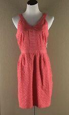 Old Navy Dress Size 10 Coral Pink Sleeveless Cotton Eyelet Sun Sheath NWT