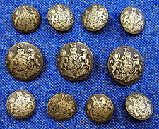 Antique Brass Blazer Buttons Set For Suit, Blazer, or Sport Coat - Metal Shank