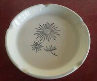 MCM Ashtray Atomic Flower vtg hand painted  porcelain 1950s