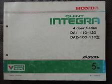 JDM Honda QUINT INTEGRA Original Genuine Parts List Catalog DA1 DA2