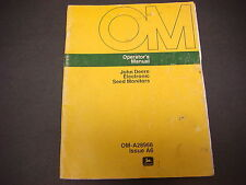 John Deere Operators Manual No.Om-A28966 Issue A6,Electronic Seed Monitors